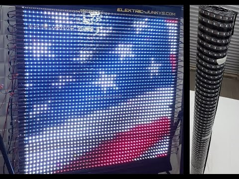 How to Make Flexible LED Panel Video Screen DIY T300K real time WS2801 LED Soft Curtain