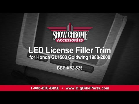 GL1500 LED License Plate Filler
