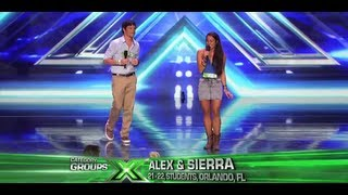 """Alex & Sierra """"Toxic"""" - Audition - The X Factor USA 2013"""
