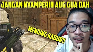 NYAMPERIN AUG A3 GUA ?? MENDING KABUR DAH !! POINT BLANK GARENA INDONESIA