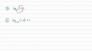 Intermediate Algebra - Logarithmic Functions: Evaluating Logarithms