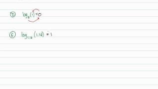 Intermediate Algebra - Logarithmic Functions: Evaluating Logarithms