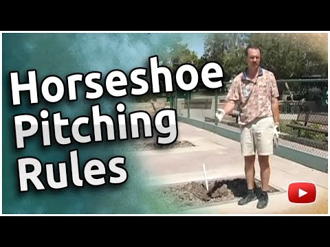 How to Pitch Horseshoes - Rules and Regulations - Walter Ray Williams, Jr.