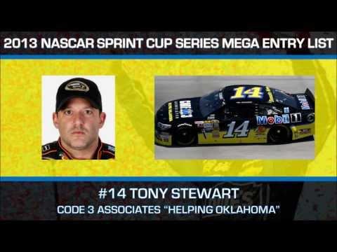 2013 NASCAR Sprint Cup Series Mega Entry List