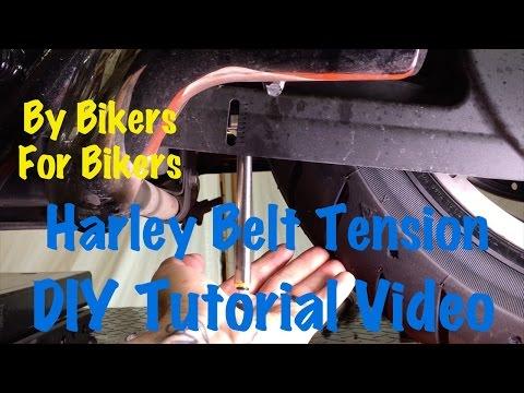 Check & Adjust Harley Davidson Secondary Final Drive Belt Tension & Deflection