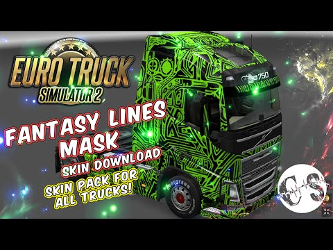 Fantasy Lines Mask Skin Pack for All Trucks + Volvo Ohaha