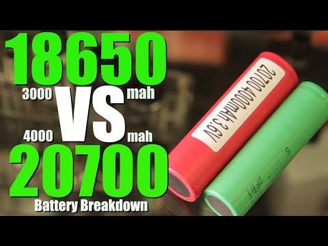 18650 vs 20700 MOD BATTERY BREAKDOWN