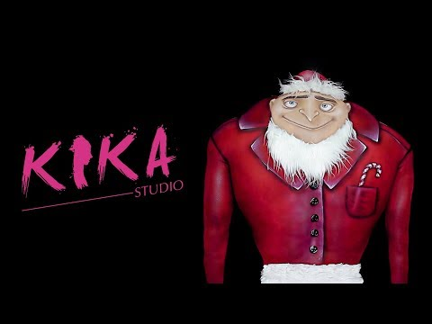 DESPICABLE ME - GRU in the Christmas mood / bodypainting illusion (видео)