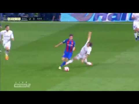 23.04.17 Real Madrid 2-3 Barcelona . Leo Messi second goal