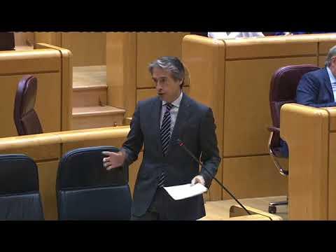 La senadora Cristina Sanz pregunta al ministro de la Serna por las previsiones en relación a la Alta Velocidad en Navarra