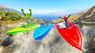 Video COLOR RIVER BOATS Race with Superheroes cartoon for kids and babies 3D animation! MP3, 3GP, MP4, WEBM, AVI, FLV Juni 2018