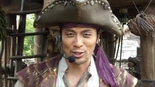パイレーツサマーが行われているディズニーシー。ロストリバーデルタでは海賊アトモスショーが行われています(^^)
