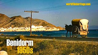 Alicante - Costa Blanca Spain  city photo : Benidorm 1950s in color, Alicante, Calpe, Guadalest, (Costa Blanca, Spain)