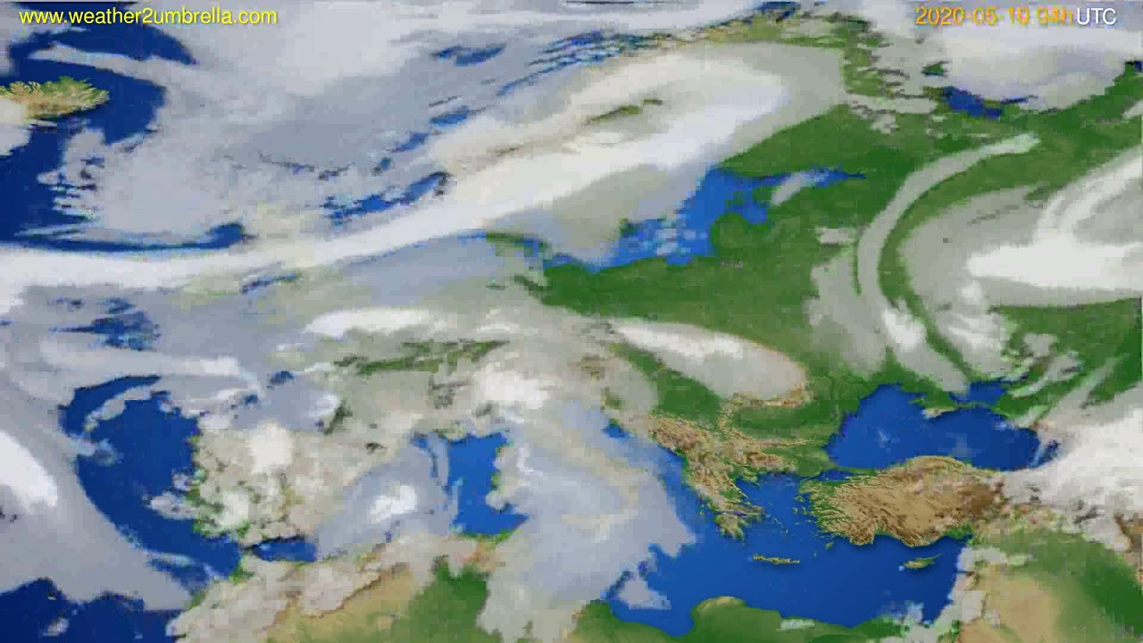 Cloud forecast Europe // modelrun: 12h UTC 2020-05-09