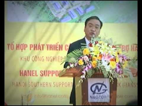 Ông Hoàng Trung Hải - Phó Thủ tướng Chính phủ Việt Nam phát biểu tại Lế khởi công Hanssip - 17/12/2013
