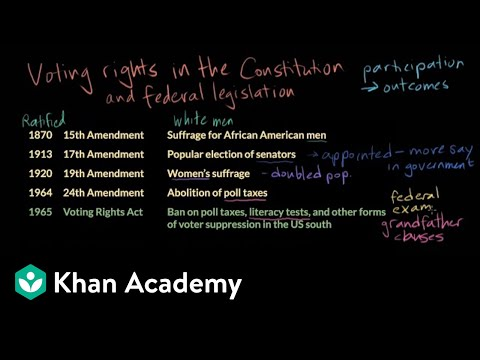 Voting Rights Video Khan Academy