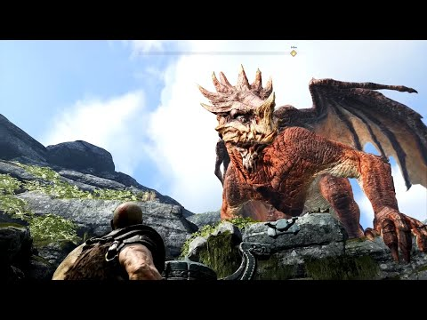 GOD OF WAR Walkthrough Gameplay Part 14 - DRAGON  (God of War 4)