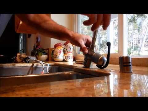 Grohe Ladylux kitchen faucet installation