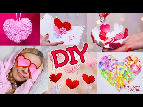 5 DIY Valentine's Day Gifts and Room Decor Ideas (видео)