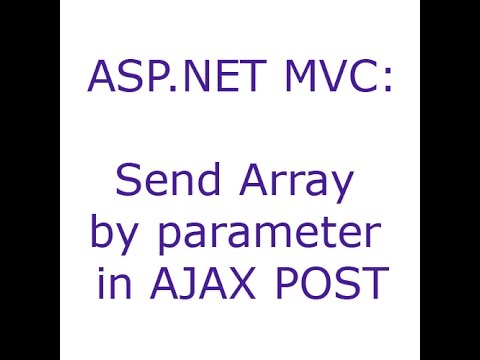 ASP.NET MVC: Send Array by parameter in AJAX POST