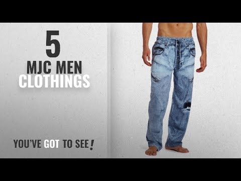Top 10 Mjc Men Clothings [ Winter 2018 ]: MJC International Men's Generic Faux Denim Pajama Pant,