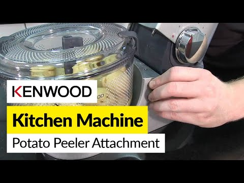 Food Peeler - For all your Kitchen Kenwood spares go to http://www.espares.co.uk/browse/at1096ma435/ In this video Mat demonstrates how to use the Potato Peeler attachment...