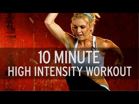 intensity - Subscribe: http://goo.gl/hMvdg On today's episode of XHIT, fitness trainer Rebecca-Louise gets a little creative with her routine. In this 10 minute workout,...
