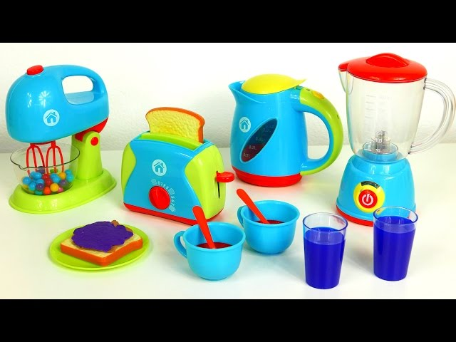 Just like home kitchen appliance set playset blender mixer for Kitchen set video song