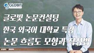 논문컨설팅 글로빛 한국 외국어 대학교 특강영상 - 논문 흐름도 모형과 작성법