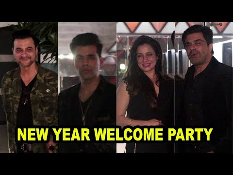 New Year Welcome Party At Sanjay Kapoor House