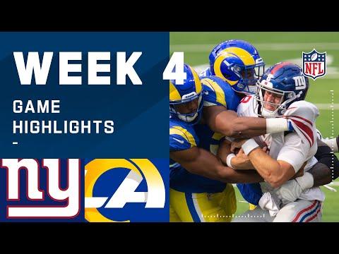 Giants vs. Rams Week 4 Highlights | NFL 2020