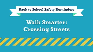 This is UNTV reminding you to be a smart walker while crossing roads.