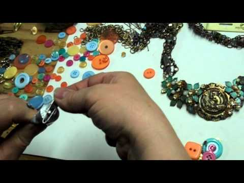 Collage Jewelry Made Even Simpler/Rudimentary Gypsy Beading