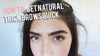 How To Grow Eyebrows FAST! (Thick & Natural)