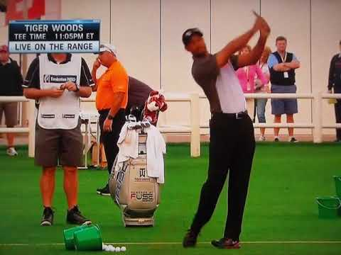 Tiger Woods / Warm-Up Routine (2014 Dubai Desert Classic)