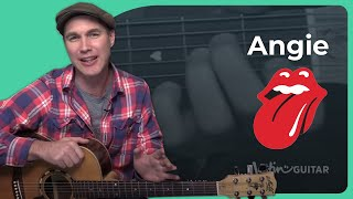 How to play Angie by The Rolling Stones (Guitar Lesson SB-408)