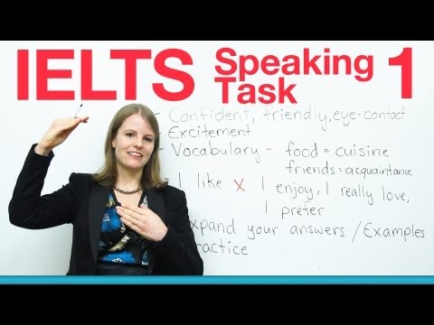 Speaking - http://www.goodluckielts.com/ Do you need to take the IELTS? I will teach you everything you need to get a higher score in Task 1 of the Speaking section of ...