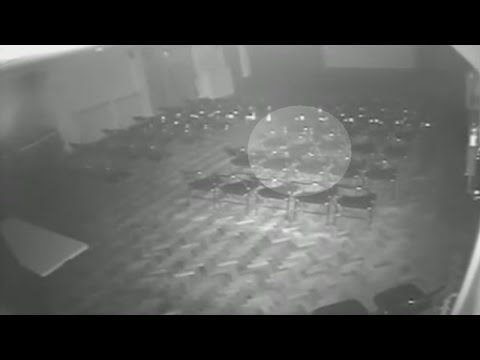 theatre - Subscribe here: http://bit.ly/1bmWO8h Bone-chilling CCTV footage captured at the Brookside Theatre in Romford, Essex shows a chair appearing to move on its own. To make things weirder this...