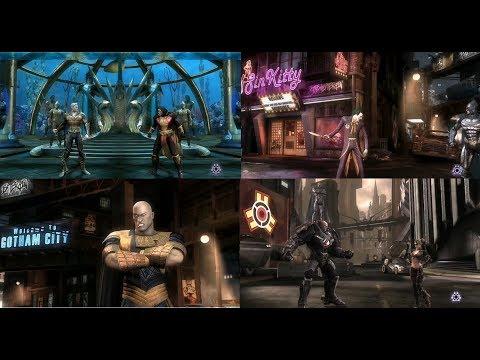 Игрофильм Injustice׃ Gods Among Us (русская озвучка и самые эффектные моменты геймплея)