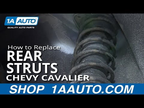 How To Install Replace Rear Strut Spring Shock 1995-05 Chevy Cavalier Pontiac Sunfire