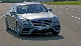 New 2018 Mercedes-Benz S-Class takes another major step towards autonomous driving, elevating Mercedes-Benz Intelligent Drive to the next level. The range of driving assistance and safety systems features a modular design and as standard includes Active Braking Assist, Crosswind Assist, ATTENTION ASSIST, Traffic Sign Assist and also the occupant protection system PRE-SAFE.  New and also part of the standard specification is PRE-SAFE Sound (prepares human hearing for the anticipated accident noise when there is a risk of a collision).Active Distance Control DISTRONIC and Active Steering Assist now provide even more comfortable support for the driver to keep a safe distance and steer. The speed is now adjusted automatically ahead of bends or junctions. This is complemented by a considerably improved Active Lane Changing Assist and additional functions of the Active Emergency Stop Assist (country-specific variations may occur in terms of the individual functions). Thanks to enhanced camera and radar systems, the new S-Class has an even better view of the surrounding traffic: In addition, for the first time it makes use of map and navigation data to calculate driving behaviour.This means that DISTRONIC Active Proximity Assist is able to assist the driver in many situations based on the route, and conveniently adjust the vehicle speed.If you love cars you should subscribe now to YouCar the world famous automotive channel: https://goo.gl/5i54VgMusic: But Enough About Me, Bill PaxtonbyChris Zabriskie is licensed under the Creative Commons Attribution (https://creativecommons.org/licenses/by/4.0/)Source: http://chriszabriskie.com/dtv/Artist: http://chriszabriskie.com/
