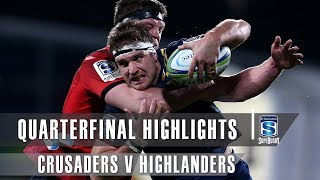 Crusaders v Highlanders quarter-final 2019 rugby video highlights | Super Rugby Video Highlights
