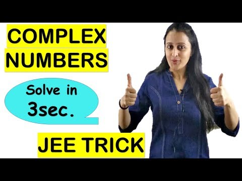 Complex Numbers Trick- Locus Of A Point/trick For Jee/nda/na/cets/ssc-cgl