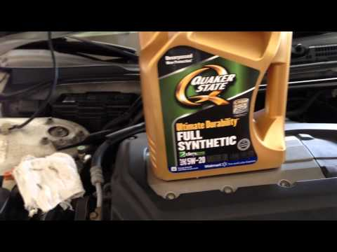 how to change oil acura cl