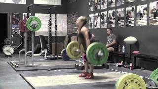 Commentary 39: Power Snatch, Clean, Jerk Dip With Commentary By Greg Everett - Alyssa power snatch + overhead squat, Greg push press, Greg clean + jerk dip, Danielle clean, Tamara hang clean + clean, Brian snatch high-pull, Alyssa clean pull, Danielle clean pull with commentary by team coach Greg Everett  Please subscribe to our channel! - Catalyst Athletics Olympic Weightlifting Videos