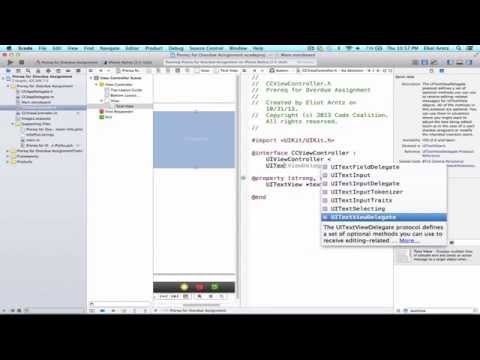 IOS Programming Tutorial - Handling UITextView And…