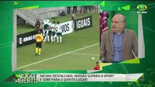 O jornalista afirma que o Verdão mereceu a vitória de 2 a 0 diante do Sport e elogia a atuação do goleiro palmeirense Jaílson.