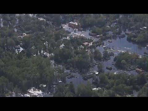 Β.Καρολίνα: Κίνδυνος υπερχείλισης ποταμών μετά τον τυφώνα Φλόρενς…