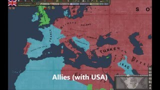 Hearts Of Iron 3 Timelapse: All Factions at war