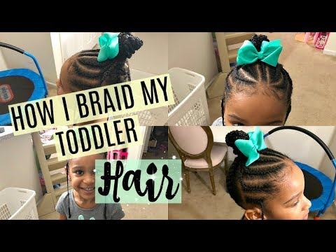 Braid hairstyles - EASY BRAIDING HAIRSTYLE FOR TODDLERS  VEDA DAY 7  Destiny's Life